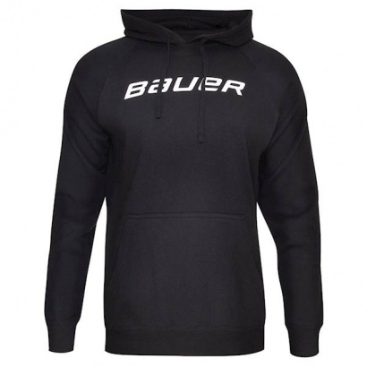 Mikina BAUER CORE HOODY W/GRAPHIC YTH - BLK